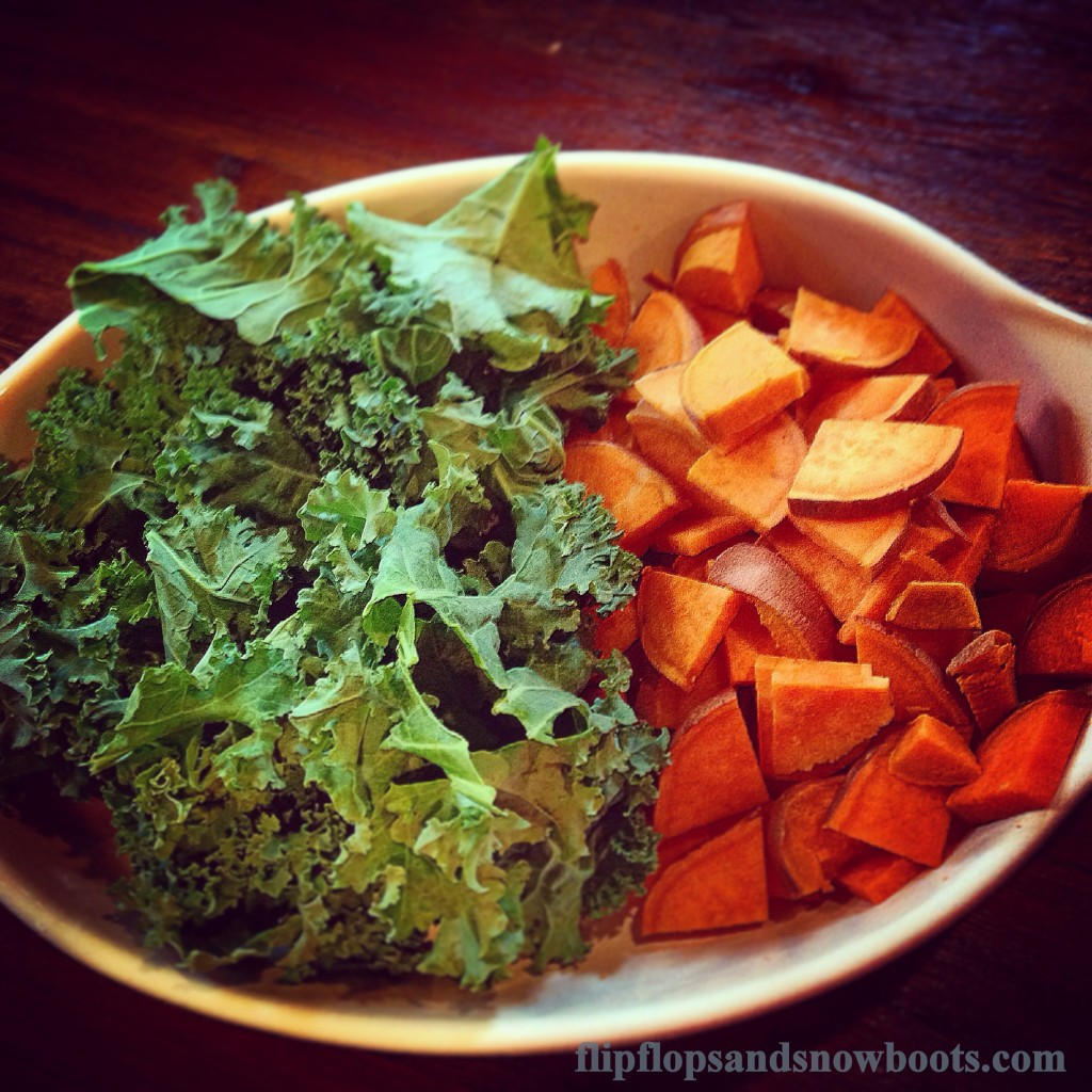 kale and sweet potato