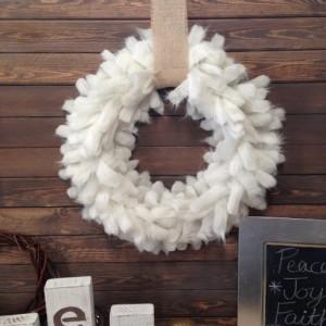 Fur Christmas Wreath