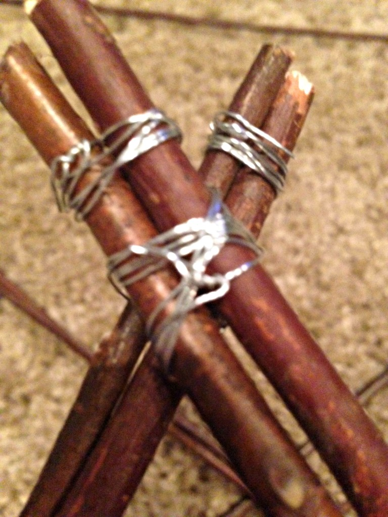 christmas star wrapping wire at ends