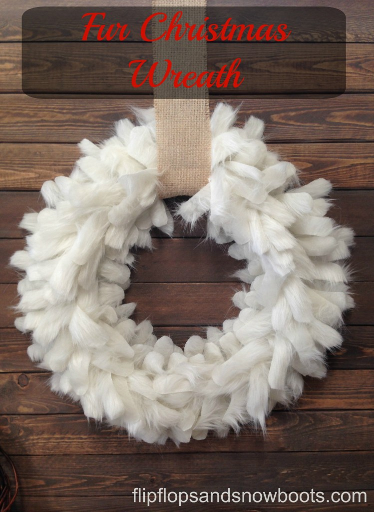 fur christmas wreath