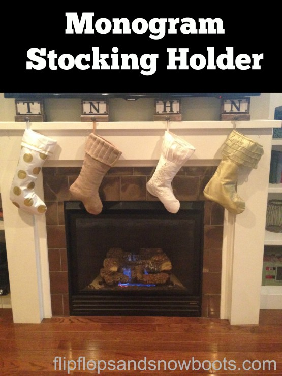 Monogram Stocking Holder