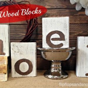 Noel Wood Blocks