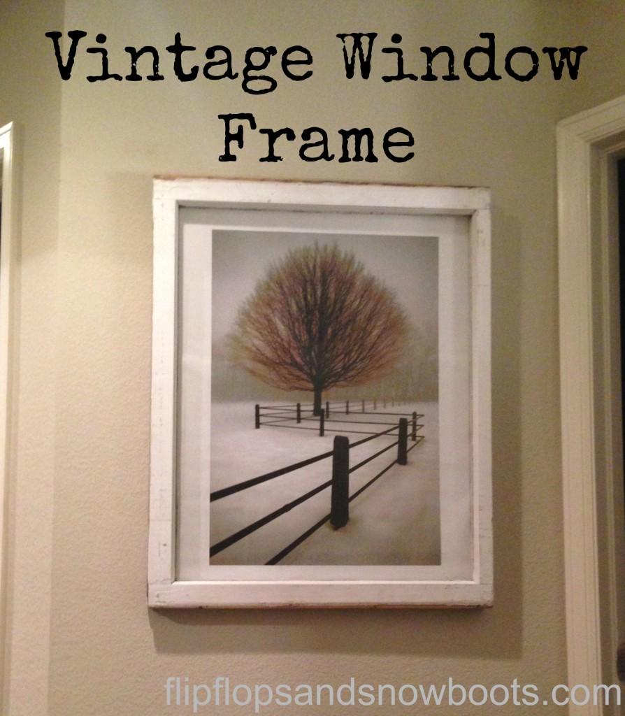 vintage window frame with wm