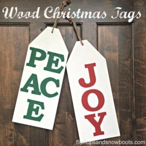 Oversized Wood Christmas Tags