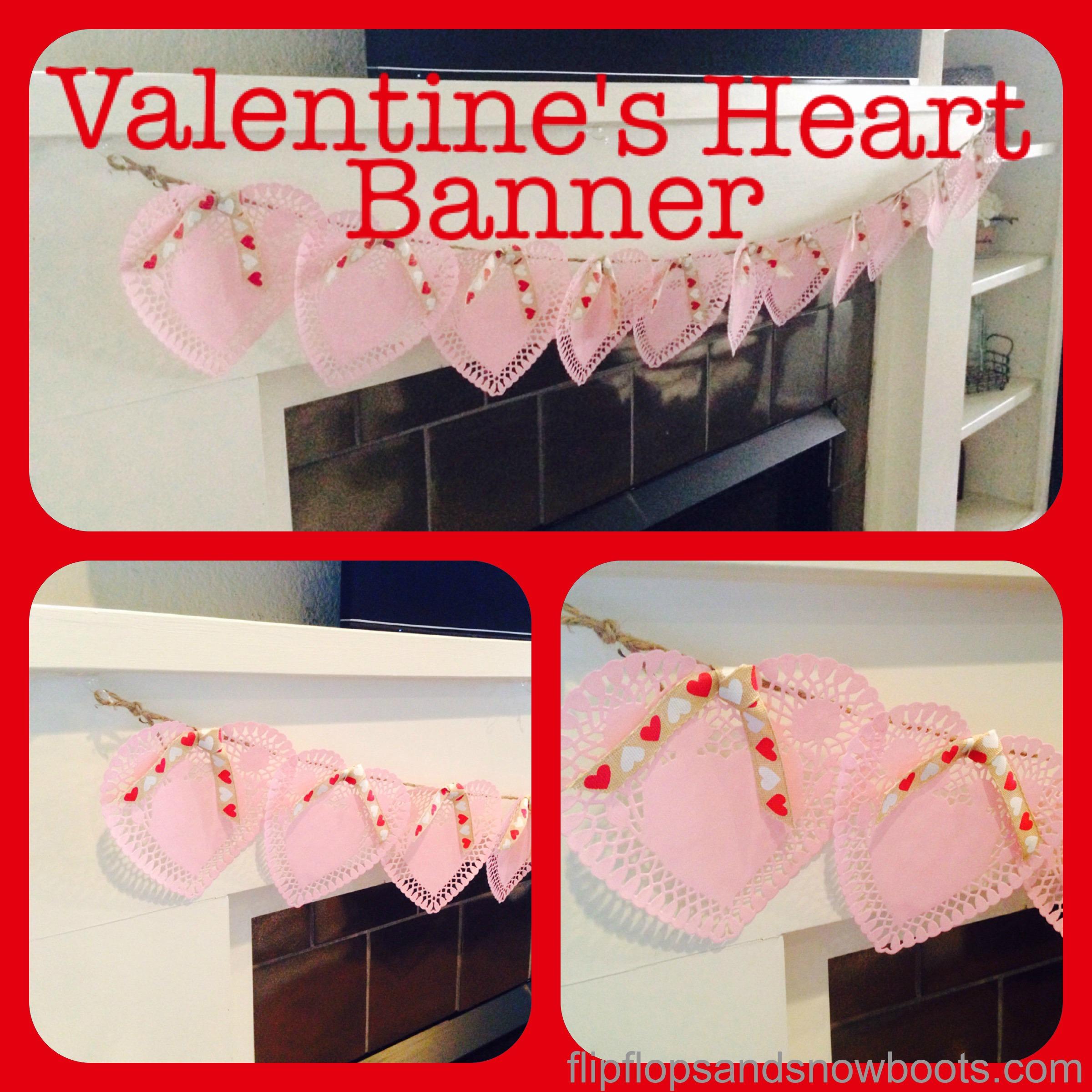 Valentine's Heart Banner