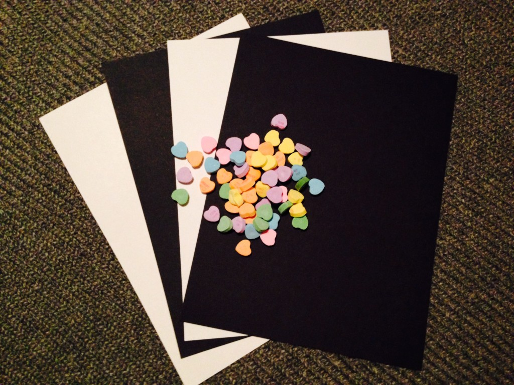 Sweethearts and cardstock