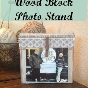 Wood Block Photo Stand