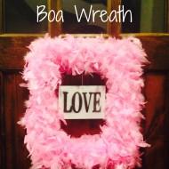 Valentine's Feather Boa Wreath