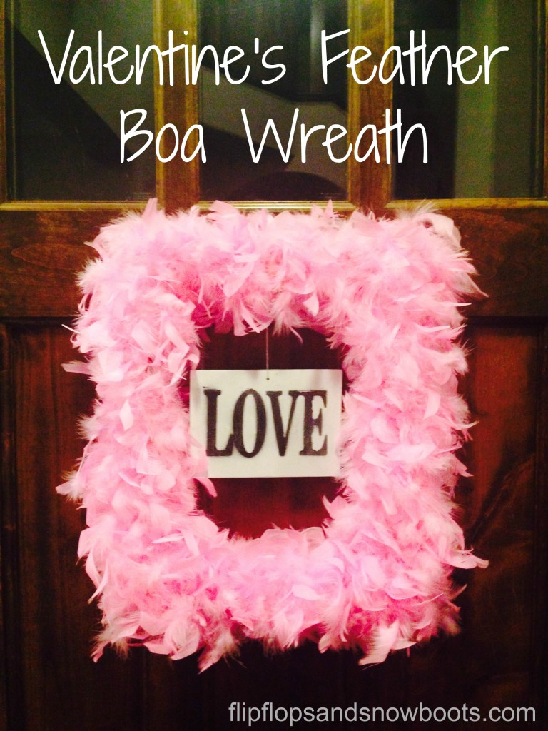 feather boa wreath with wm