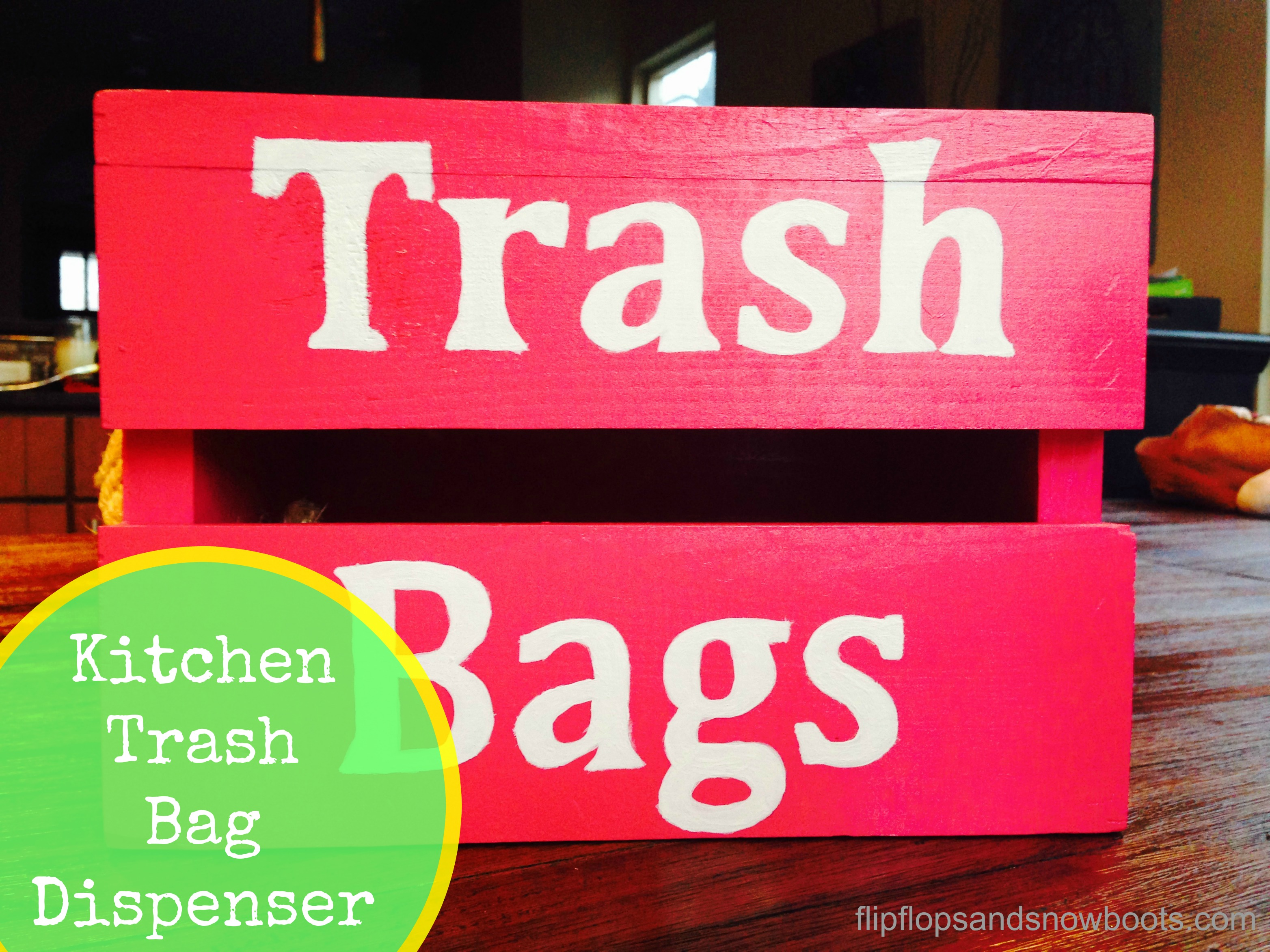 Kitchen Trash Bag Dispenser
