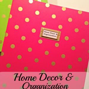 Home Decor and Organization Binder