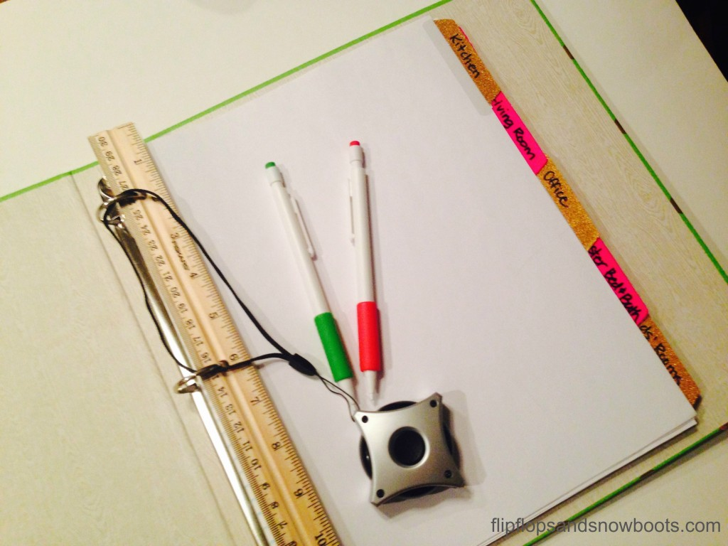 pencils measuring tape with wm
