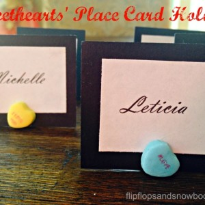 Sweethearts' Place Card Holders