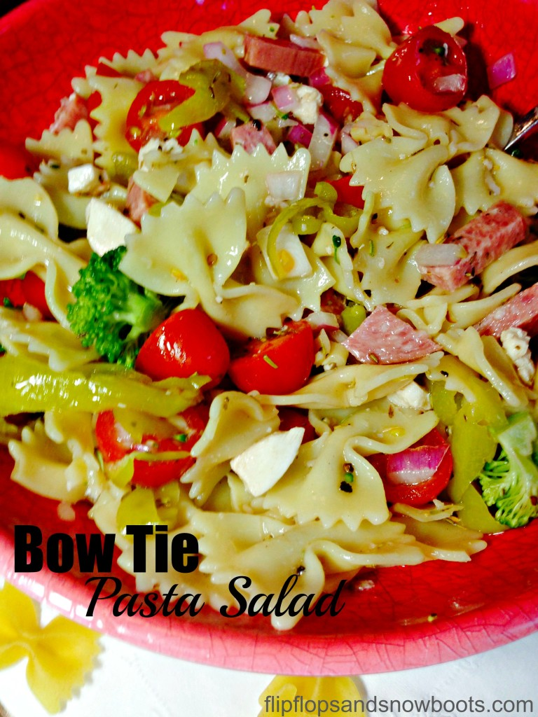 Bowtie pasta salad with title and wm