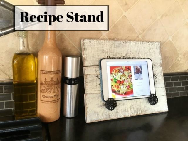 DIY Pallet Recipe Stand