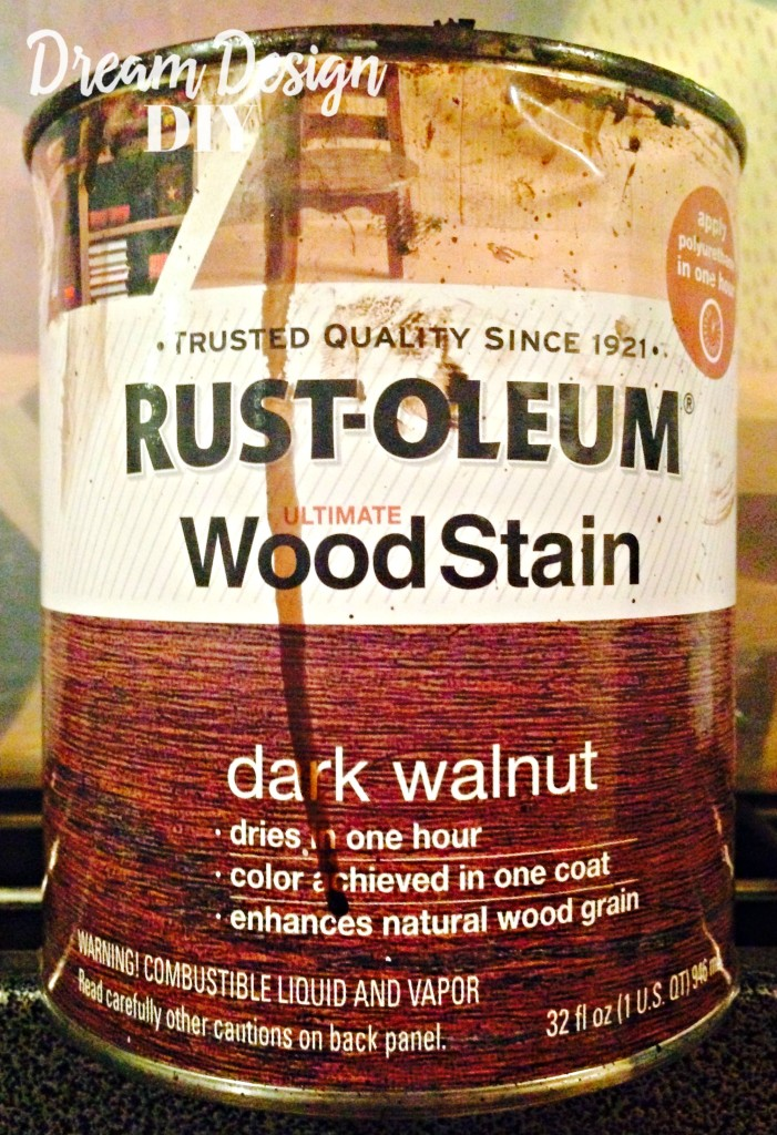 Rustoleum dark walnut stain