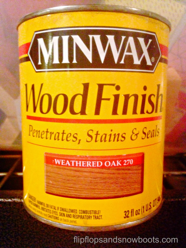 Weathered oak minwax