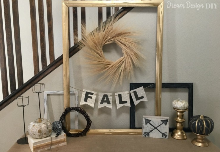 Fall Display 2015 – Chalkboard, Gold, and White