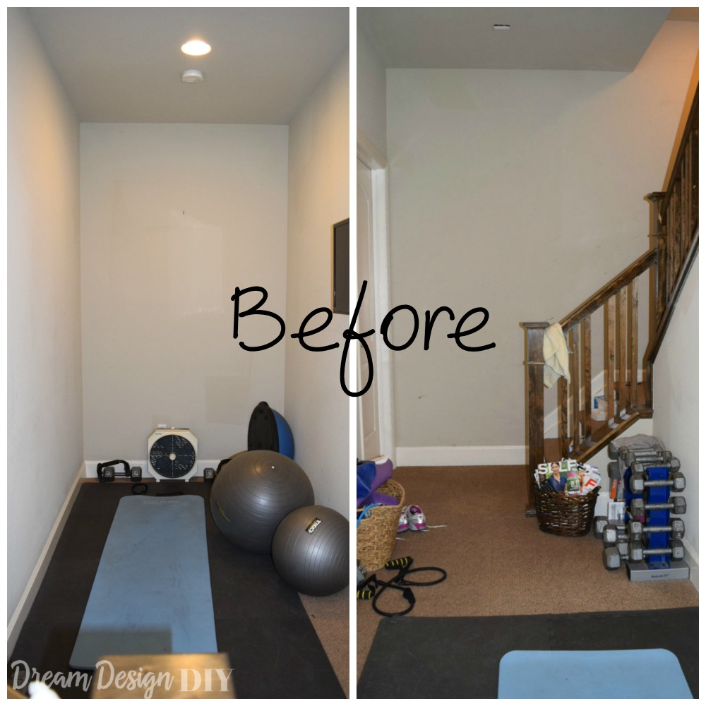 How to make and install a ballet barre dream design diy for Small exercise room