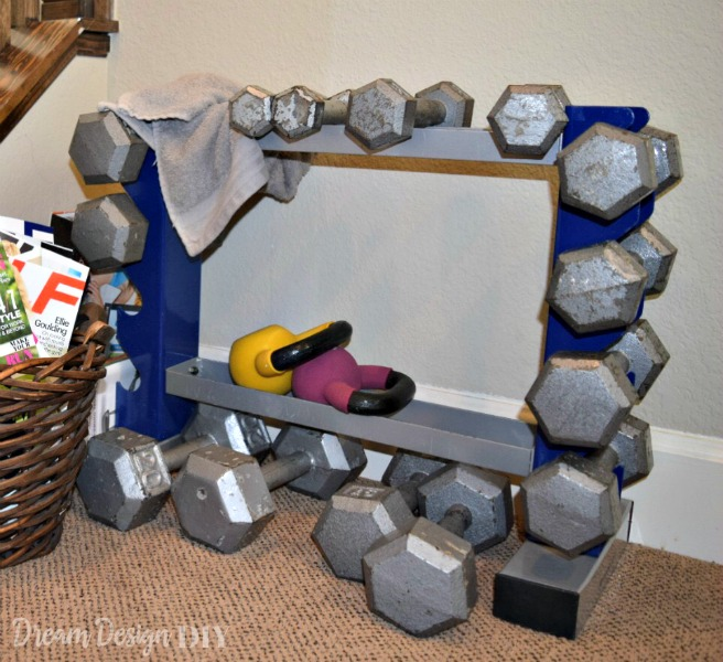 one room challenge weight rack