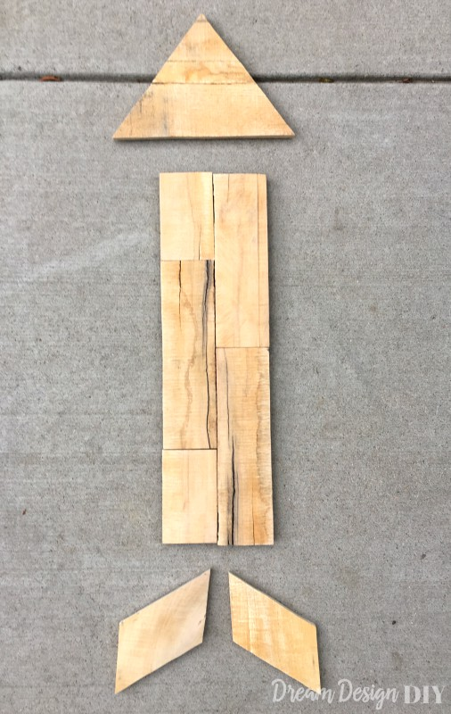DIY wood arrow