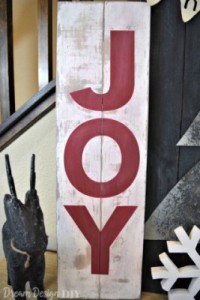 DIY – Joy Christmas Sign