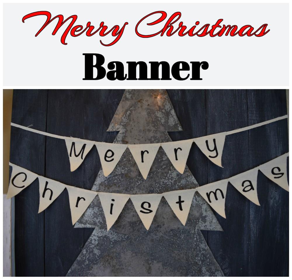merry christmas banner dream design diy