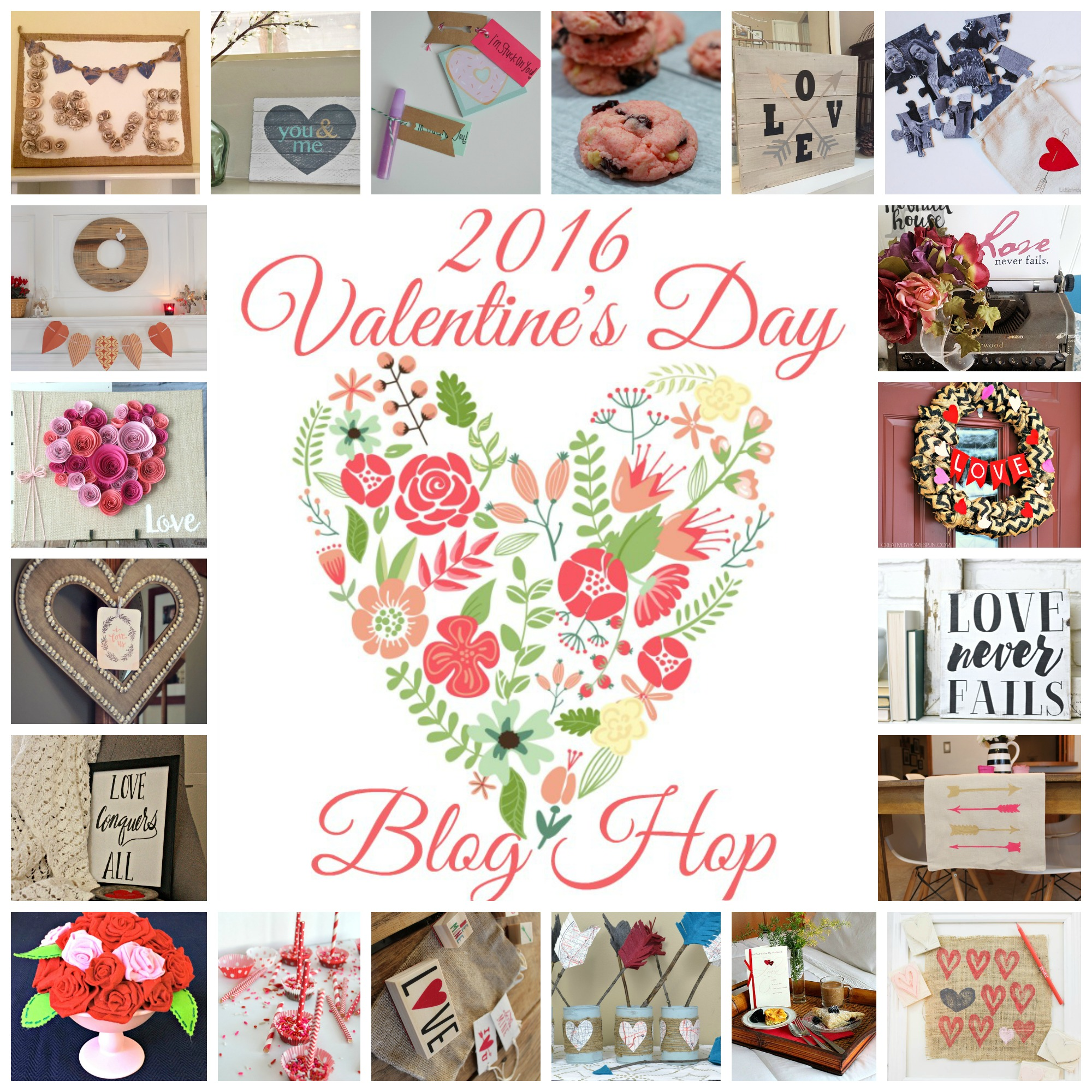 Valentines Collage - heart DIY wood sign