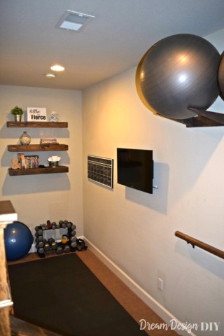 DIY Workout Ball Holder For Your Home Gym Organization