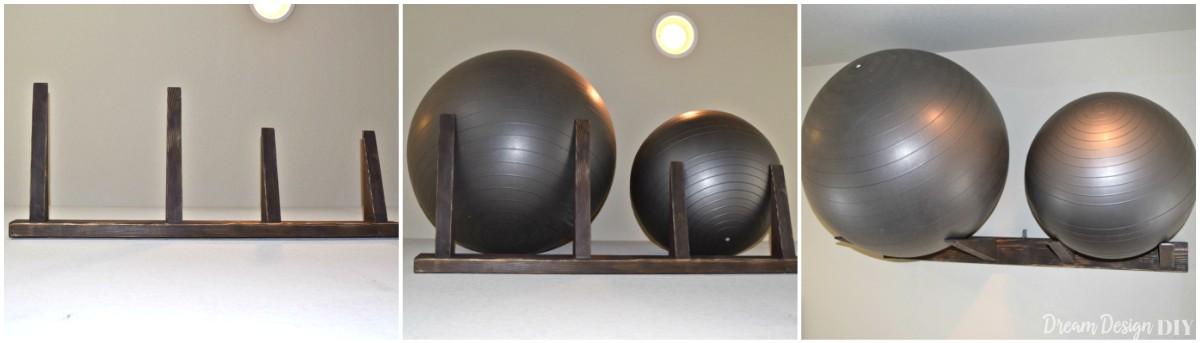 workout ball holder
