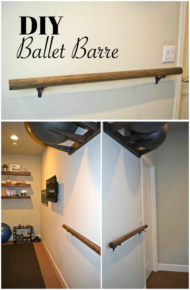 Click to see how to make and install a Ballet Barre for around $20. You