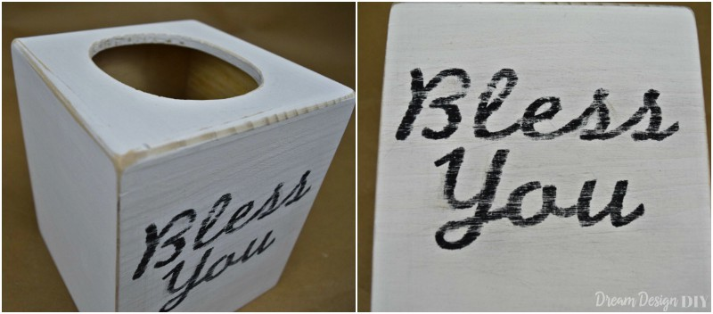bless you wooden tissue box