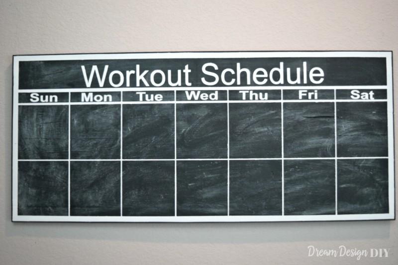 chalkboard workout calendar
