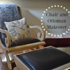 Chair and Ottoman Makeover, Stain over Paint Technique – Purdy Brush Review