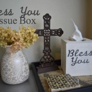 Bless You Wooden Tissue Box Holder