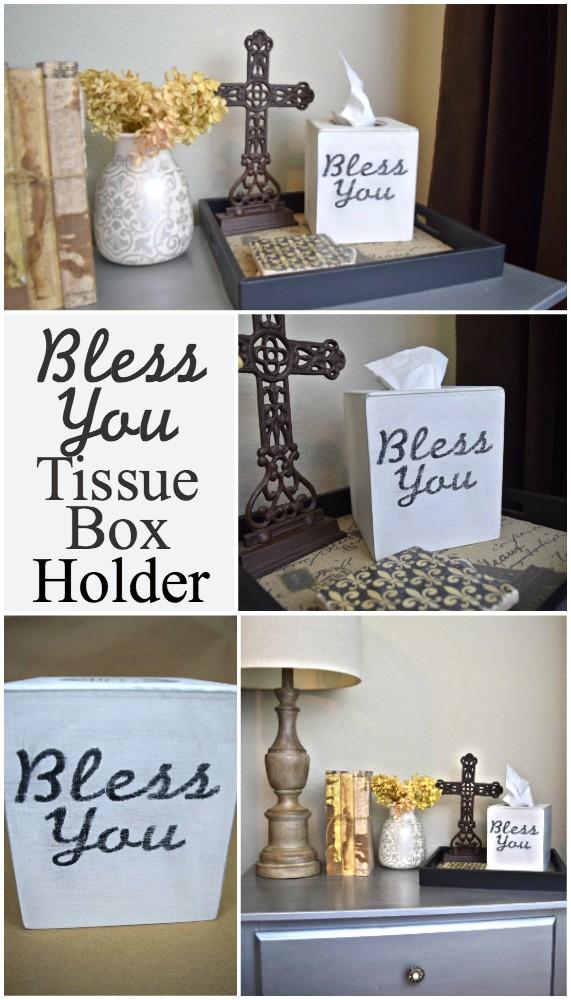 bless you tissue box holder