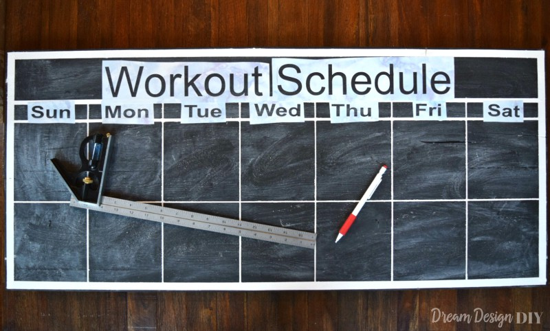 chalkboard workout calendar