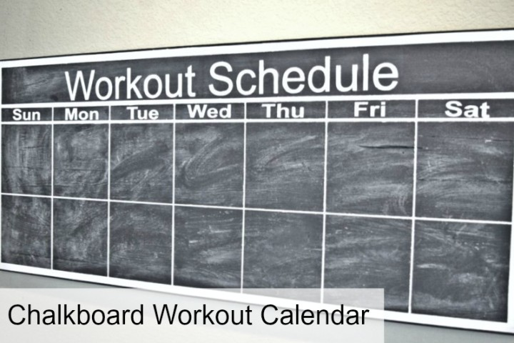 Chalkboard Workout Calendar and Silhouette Giveaway