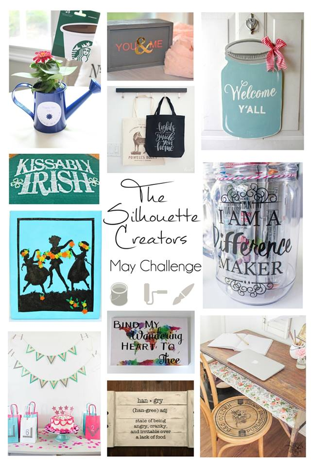 Silhouette Monthly Challenge. Check out 11 different projects to make using a Silhouette.