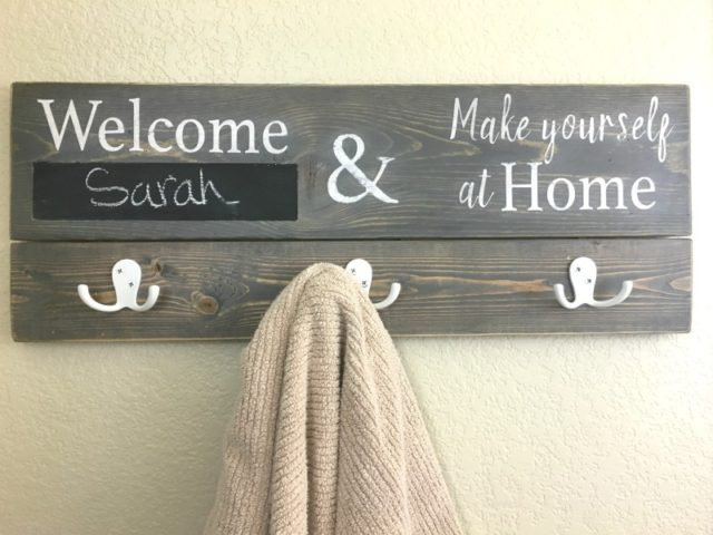 Personalized Bathroom Towel Holder