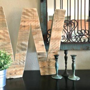 DIY Pallet Wood Letter