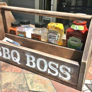 DIY Wood BBQ Caddy