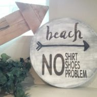 Rustic Round Beach Sign – Silhouette Creators Challenge