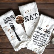 DIY Farmhouse Kitchen Towels