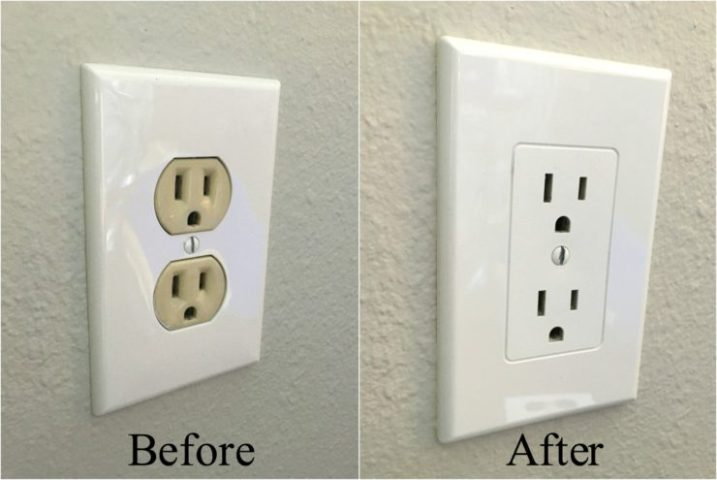Easy Electrical Outlet Cover Tip to Fix Mismatched Electrical Outlets and Covers