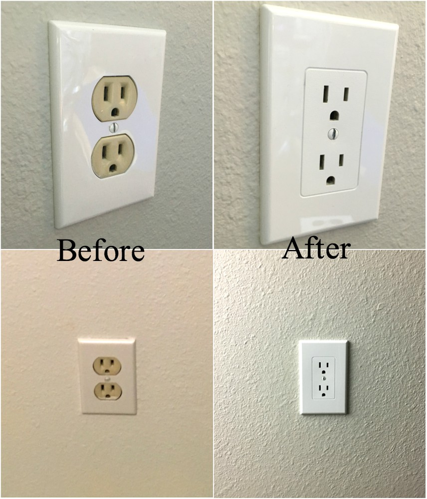 Wall Plug Plates Easy Electrical Outlet Cover Tip To Fix Mismatched Electrical