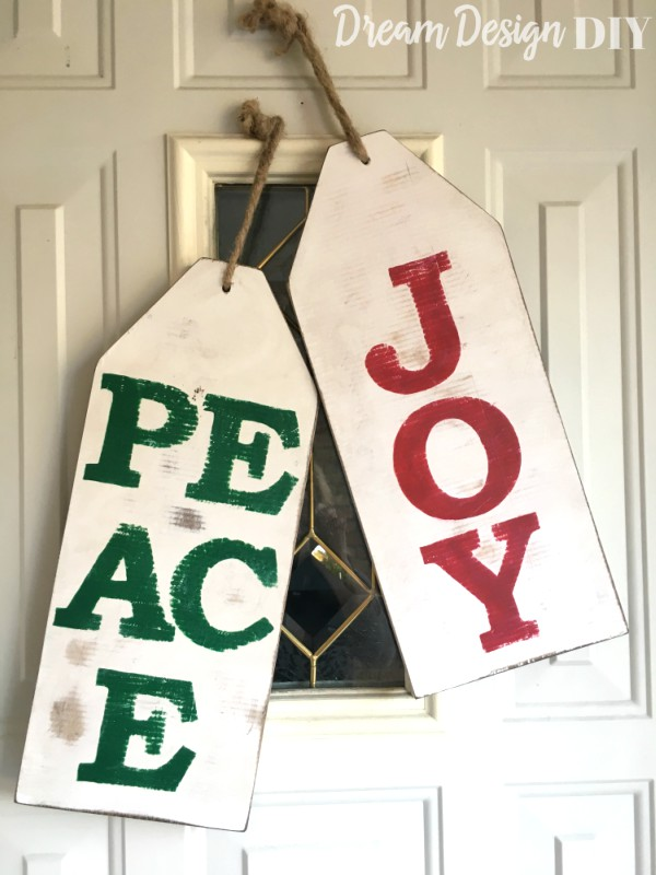 christmas wood tags