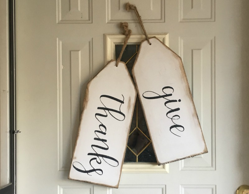 Oversized Wood Thanksgiving Tags