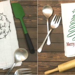 DIY Thanksgiving and Christmas Kitchen Towel