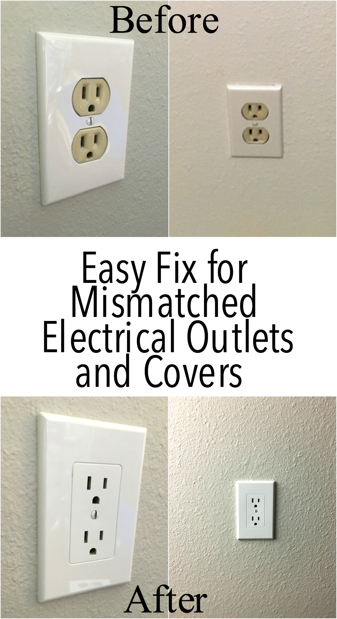 Easy Electrical Outlet Cover Tip To Fix Mismatched Wire Light Switch With My House Has The Old Almond Colored Outlets Such